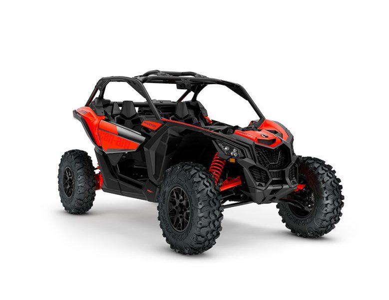 ORV-SSV-MY22-Maverick-DS-TurboRR-Can-Am-Red-SKU0007XNH00-Studio-34FR-CE