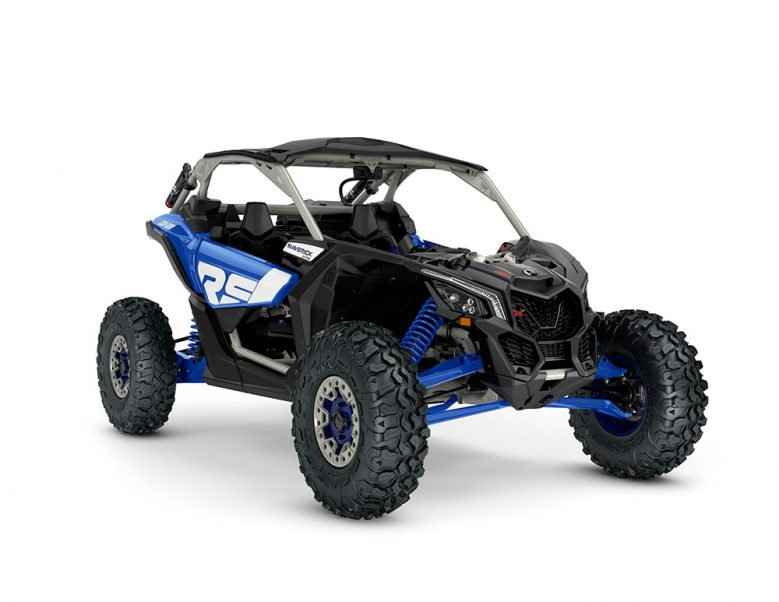 ORV-SSV-MY22-Maverick-XRSSAS-TurboRR-Intense-Blue-Carbon-Black-Chalk-Grey-SKU0007TNS00-Studio-34FR-CE